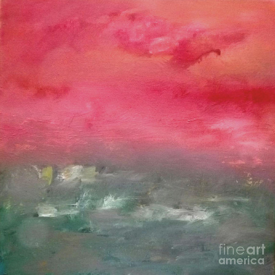Red Dawn Painting - Red Dawn by KR Moehr