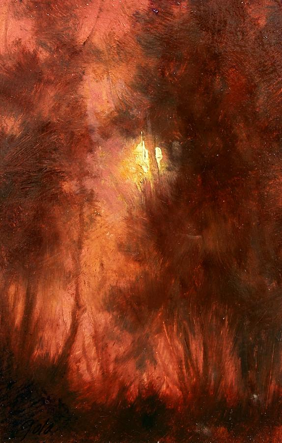 Landscapes Painting - Red Dawn Ridgefield Refuge by Jim Gola