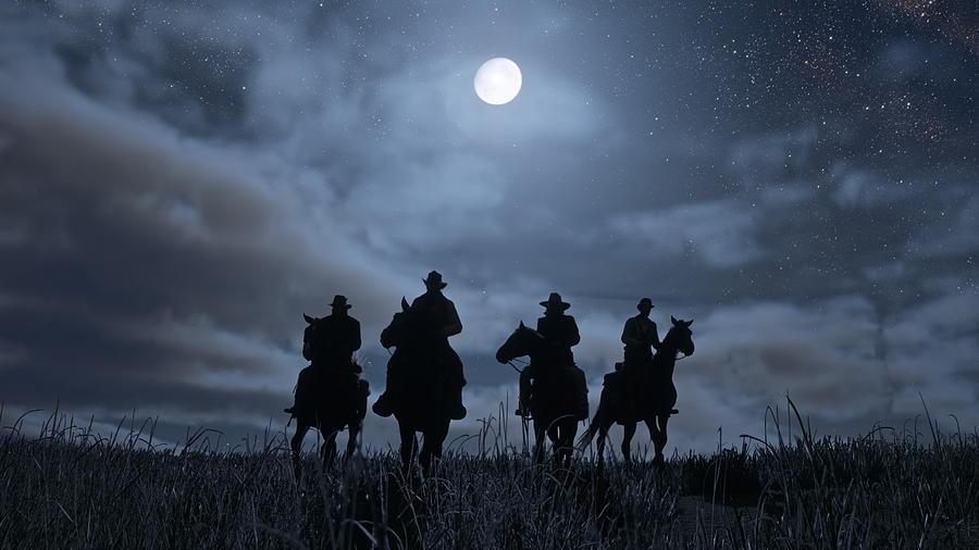 Silhouette Digital Art - Red Dead Redemption 2 by Dorothy Binder