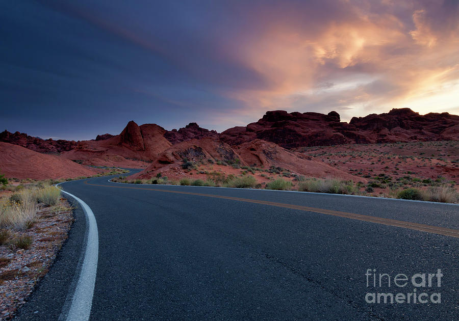 Valley Of Fire Photograph - Red Desert Highway by Mike Dawson