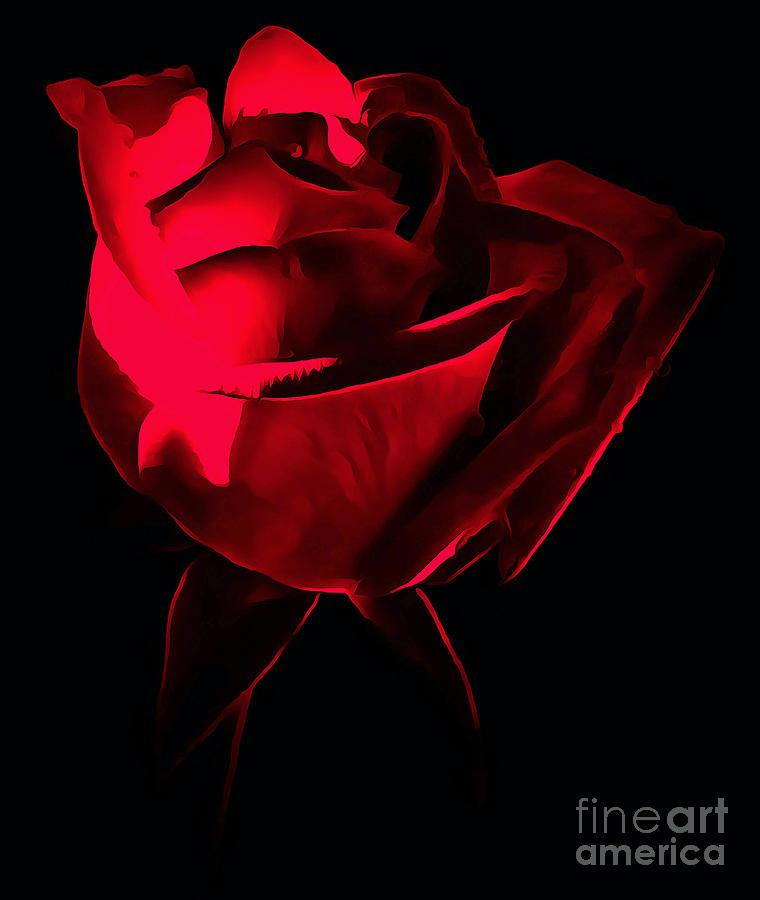Rose Photograph - Red Desire by Krissy Katsimbras