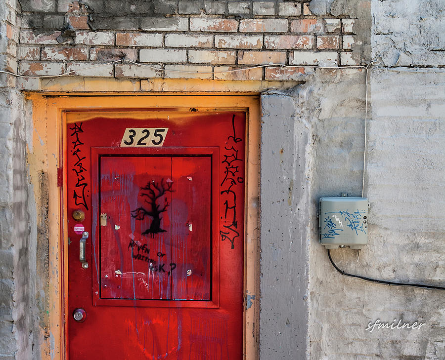 Urban Photograph - Red Door 325  by Steven Milner