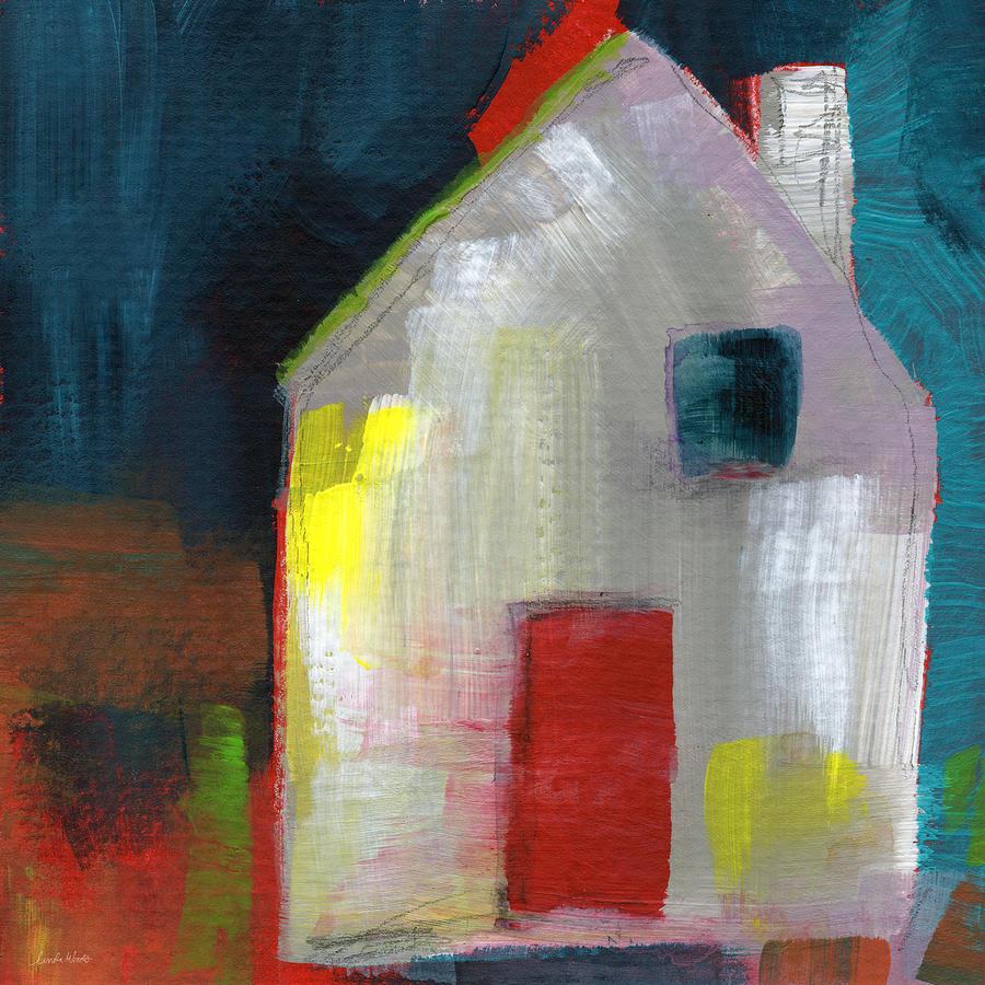 Red Door- Art By Linda Woods Painting