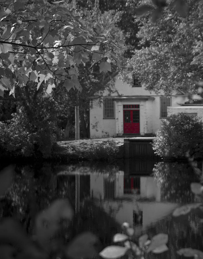 Red Door at Mill Pond Photograph by Mark Wiley