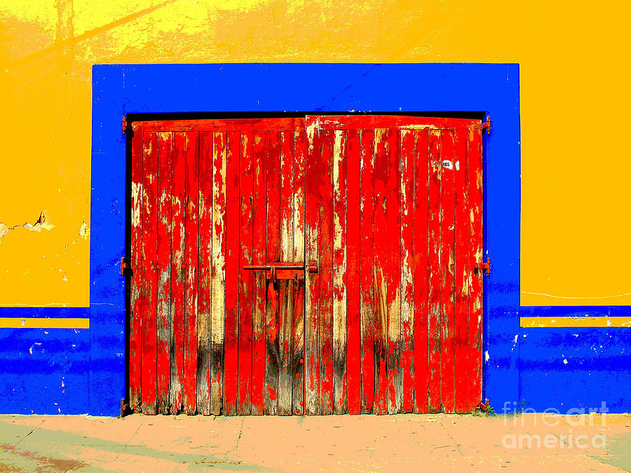 Darian Day Photograph - Red Door By Darian Day by Mexicolors Art Photography