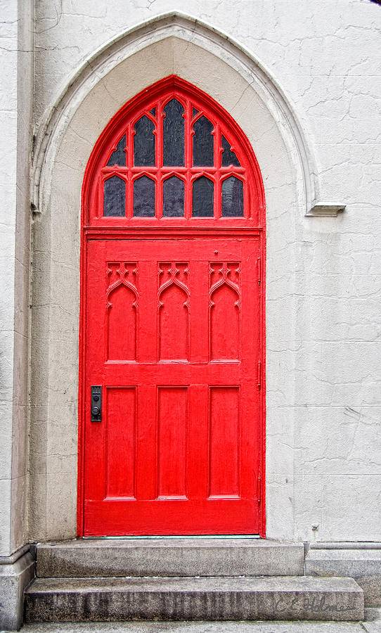 Door Photograph - Red Door by Christopher Holmes