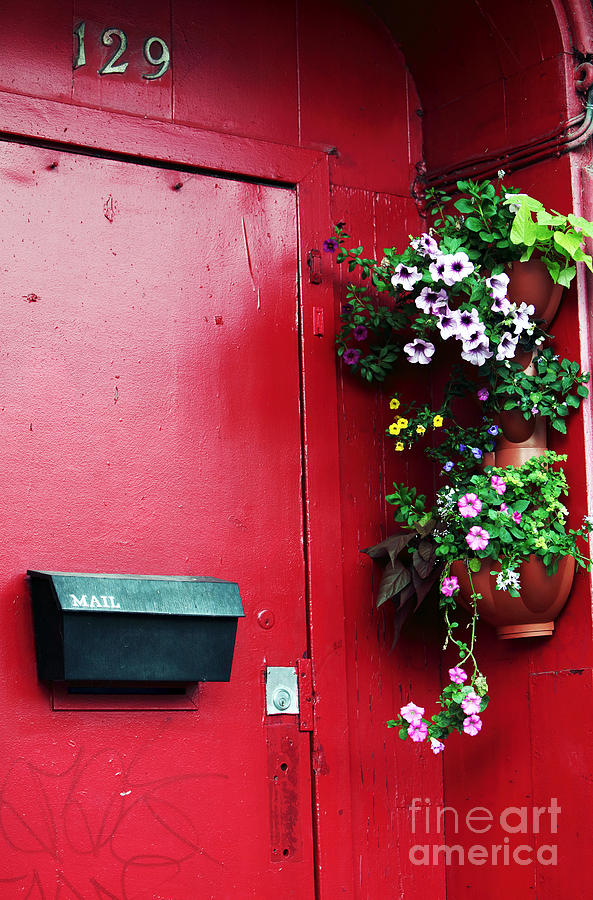 Red Door In Montreal Photograph - Red Door In Montreal by John Rizzuto
