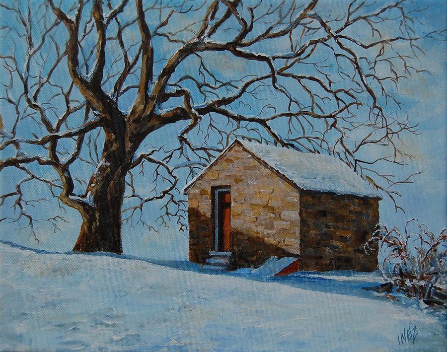 Trees Painting - Red Door by Inez Kline