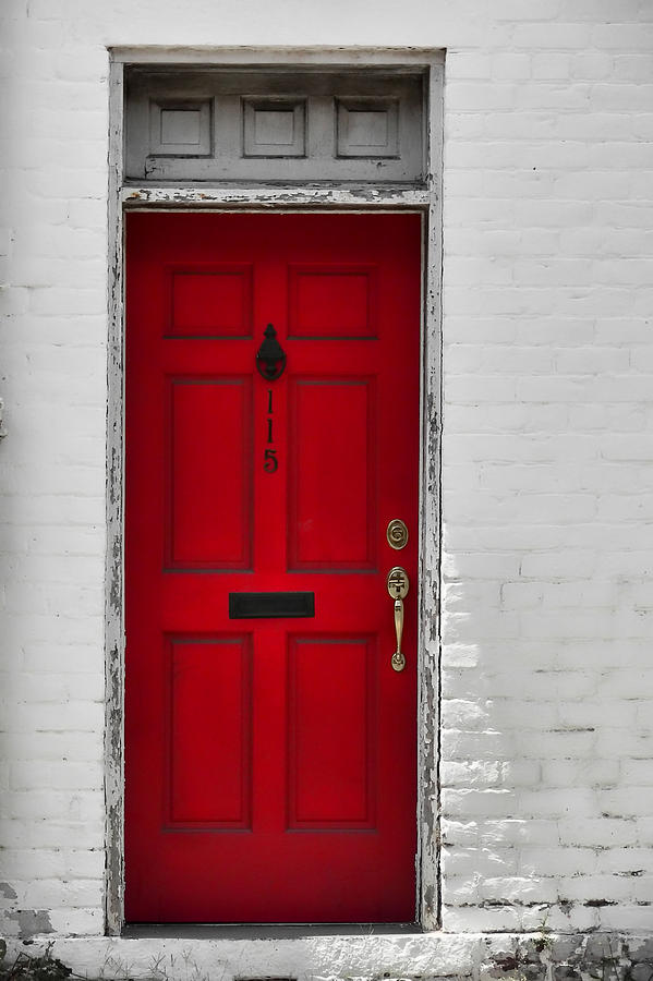 Red Photograph - Red Door by JAMART Photography