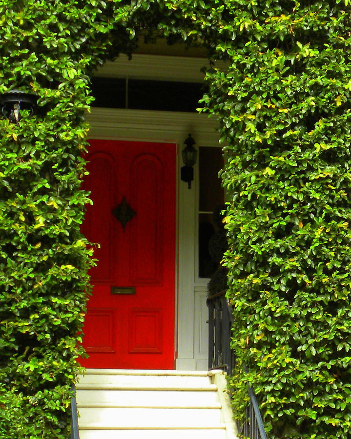 Savannah Photograph - Red Door by Kim Zwick