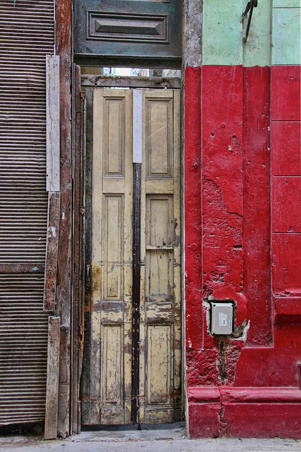 Red Door Yellow Wall by Sandra Anderson