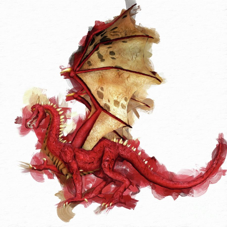 Red Dragon By Mary Bassett Painting
