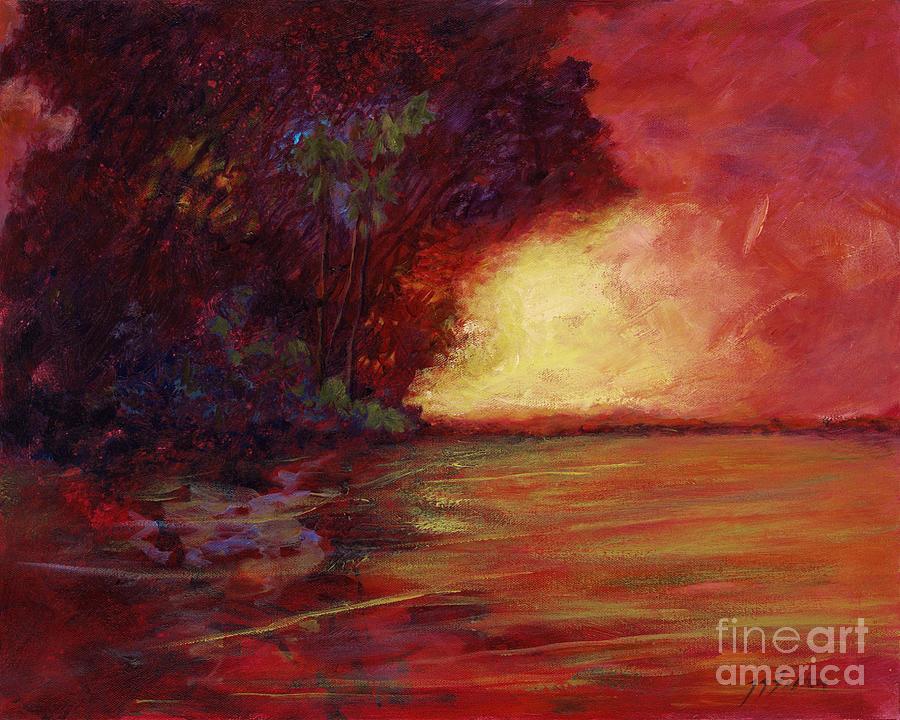 Impressionism Painting - Red Dusk by Julianne Felton