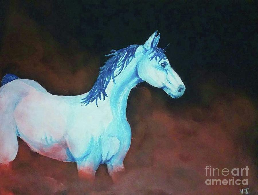 Красно синие кони картинки