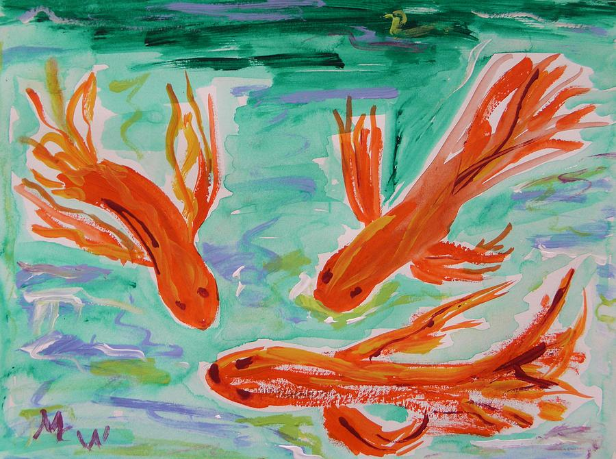 Koi Painting - Red Eye Koi by Mary Carol Williams