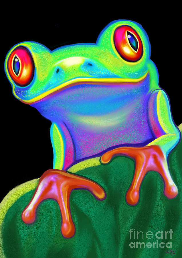 Cute Acrylic Frog Painting