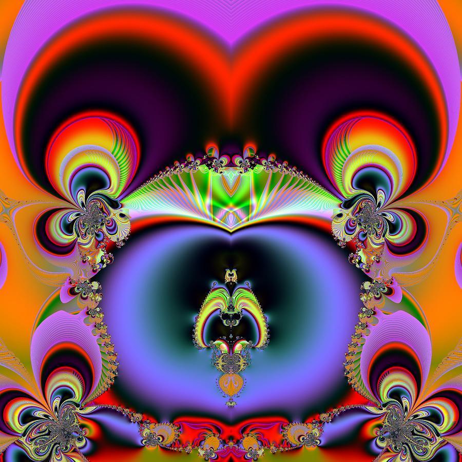 Fractal Digital Art - Red Eyes by Sfinga Sfinga