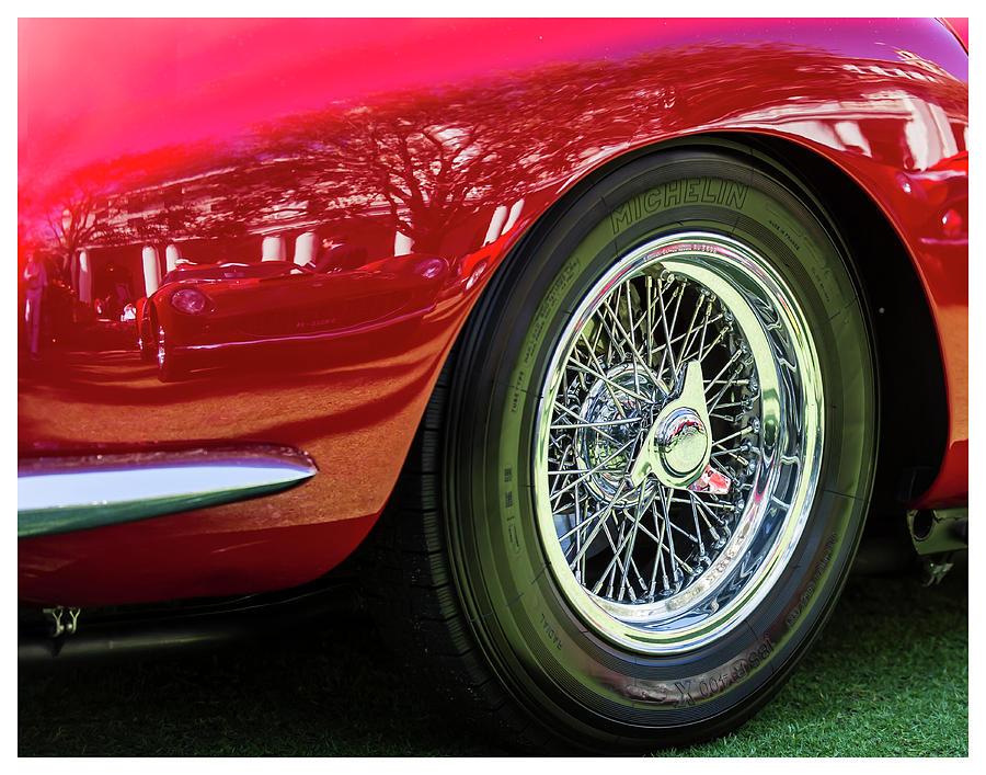 Classic Car Digital Art - Red Ferrari by Stuart Lieberman