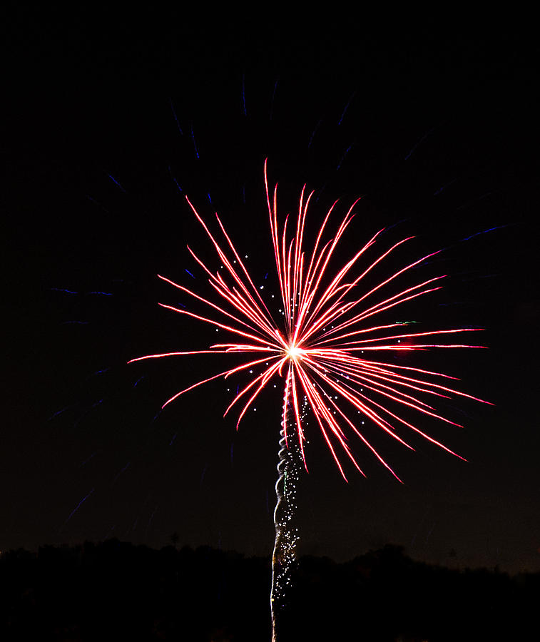 Red Photograph - Red Fireworks by Emily Smith