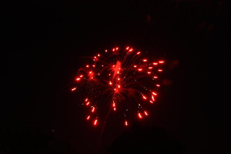 Fireworks Photograph - Red Fireworks by JoAnn Tavani