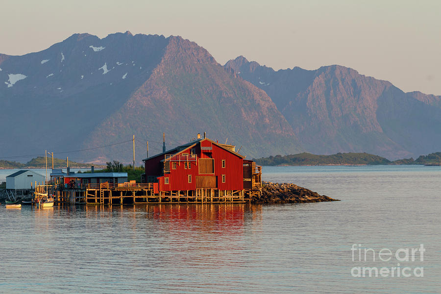 Red Fishing Hut By The Sea Photograph