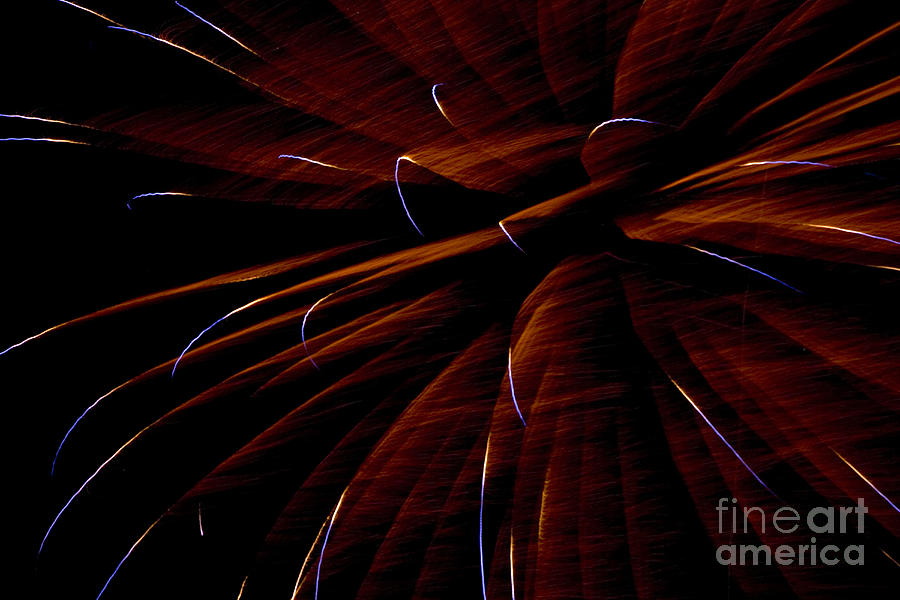 Fireworks Photograph - Red Flare by Jeannie Burleson