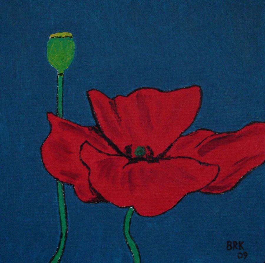 Flower Painting - Red Flower by Bo Klinge
