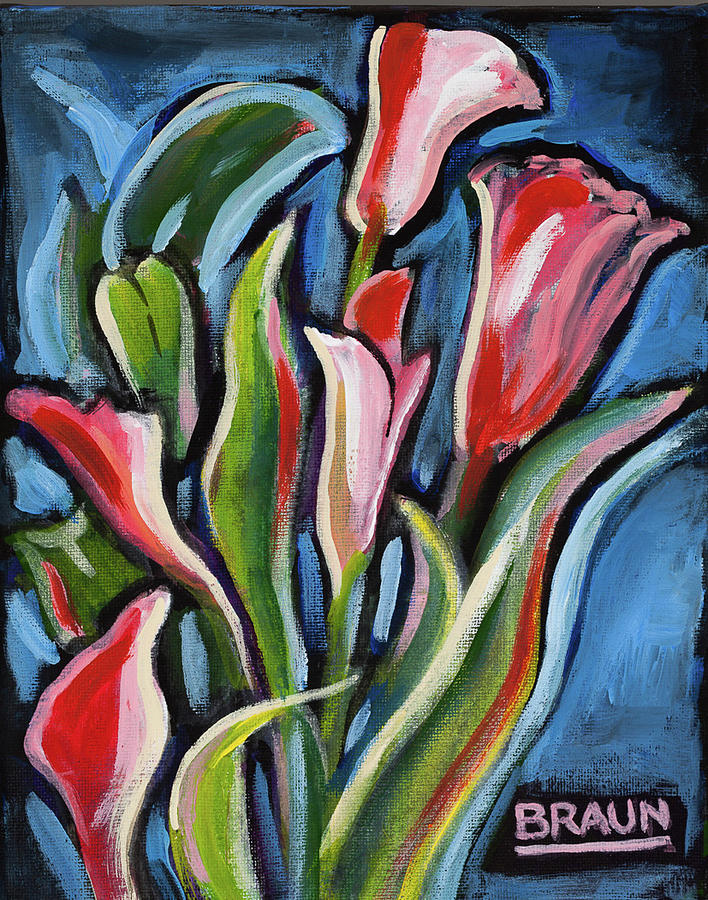 Flower Painting - Calla Lily in Red by Beverly H Braun