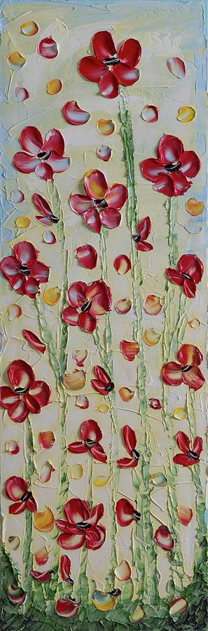 Flowers Painting - Red Flowers by Elena Nesterenko