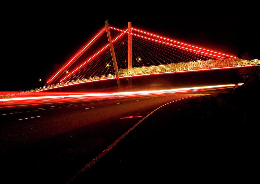 Red Footbridge Photograph