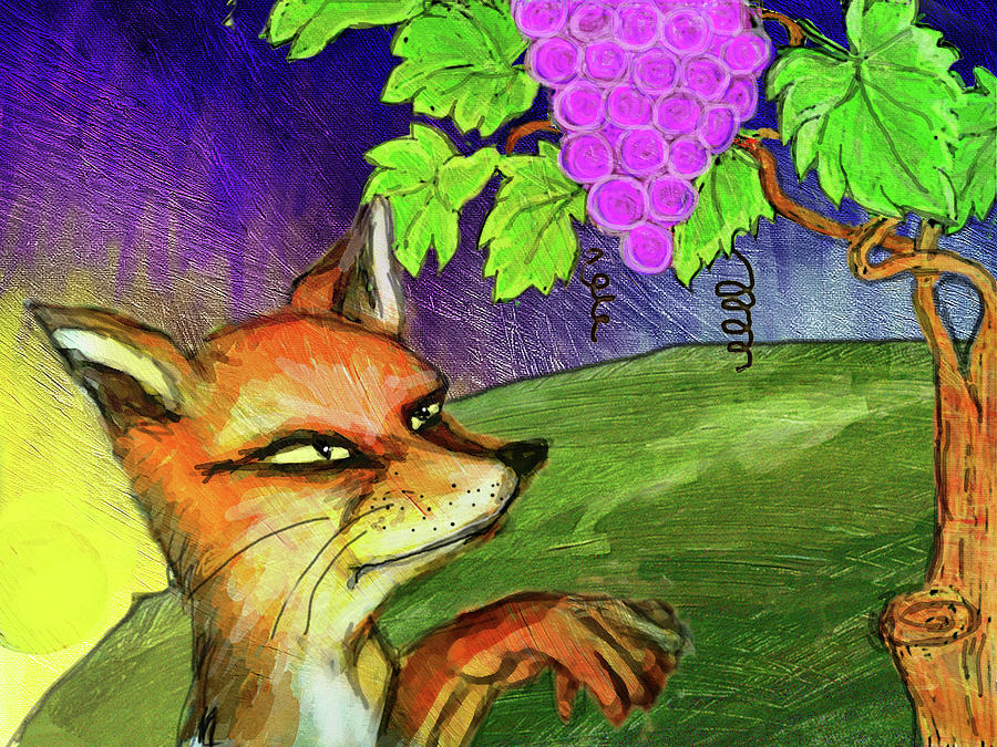 Картинки лисица и виноград рисовать, роза