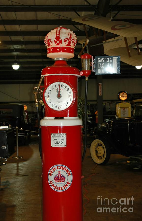 Red Photograph - Red Gas Pump by Kathleen Struckle