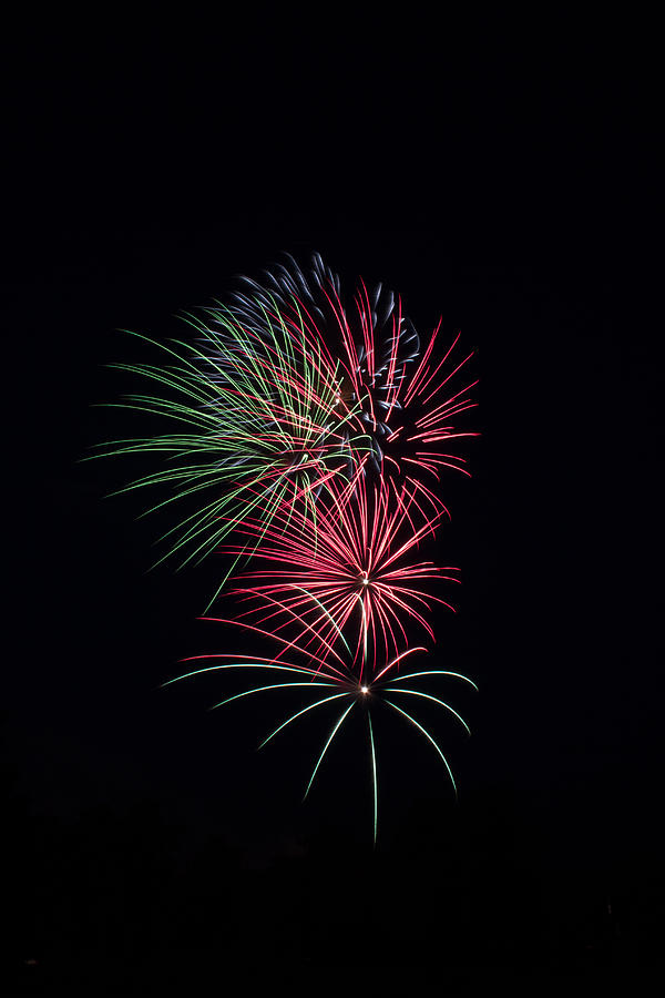 Fireworks Photograph - Red Glow by Anna Brundage