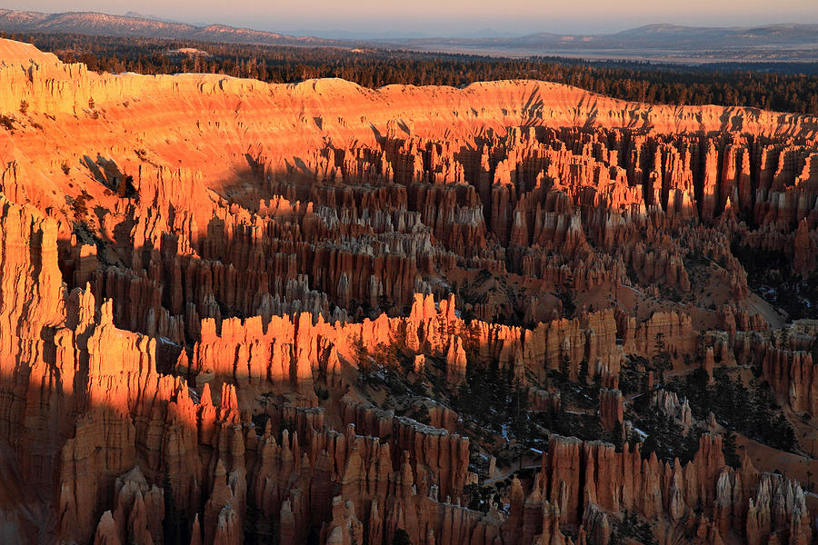 Bryce Photograph - Red Glow Of The Sunrise In Bryce Canyon by Pierre Leclerc Photography