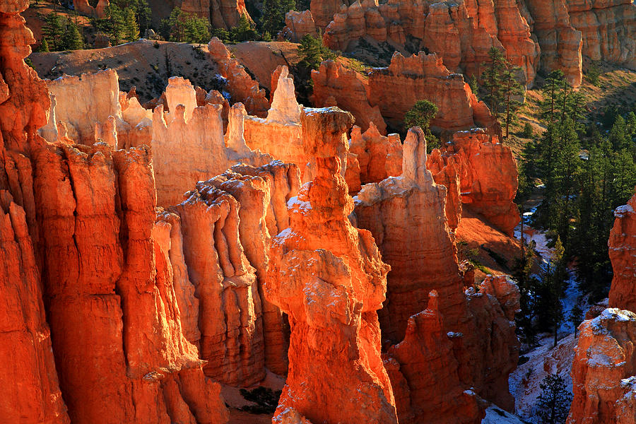 Bryce Photograph - Red glow on Thors Hammer in Bryce Canyon by Pierre Leclerc Photography