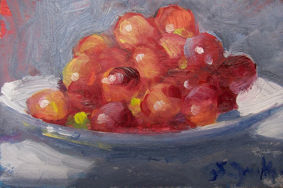 Grapes Painting - Red Grapes by Susan Jenkins