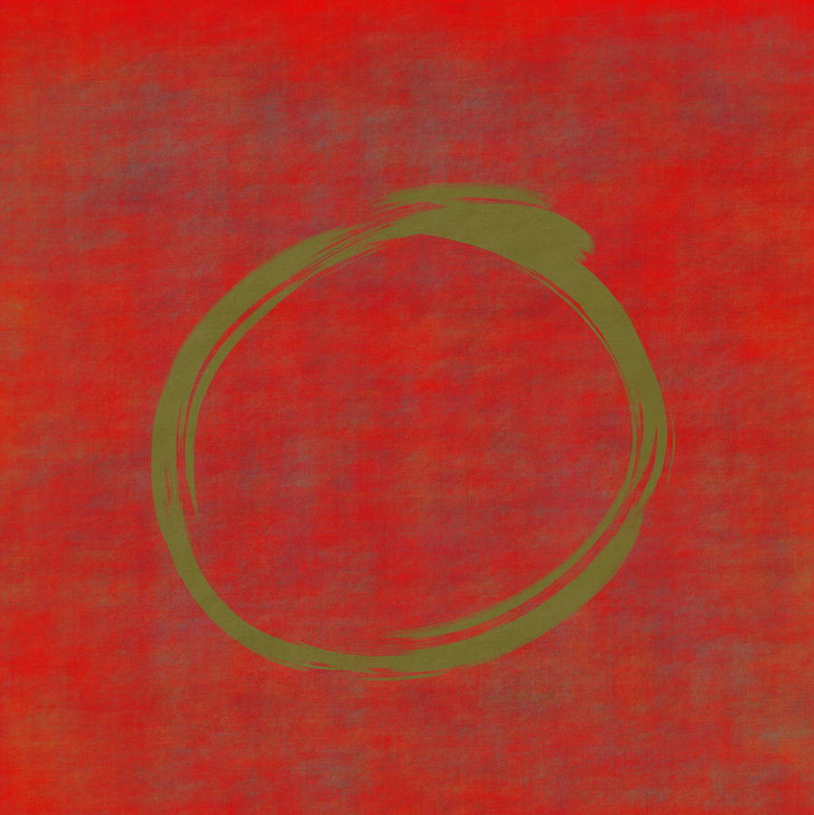 Red Green Enso by Julie Niemela