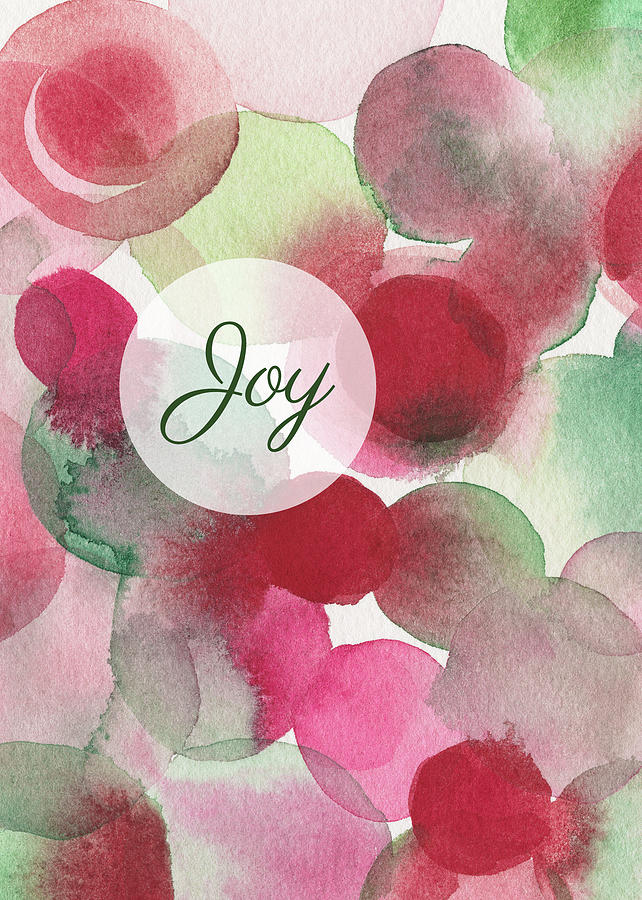 Holiday Cards Painting - Red Green Fuchsia Chic Holiday Card by Beverly Brown