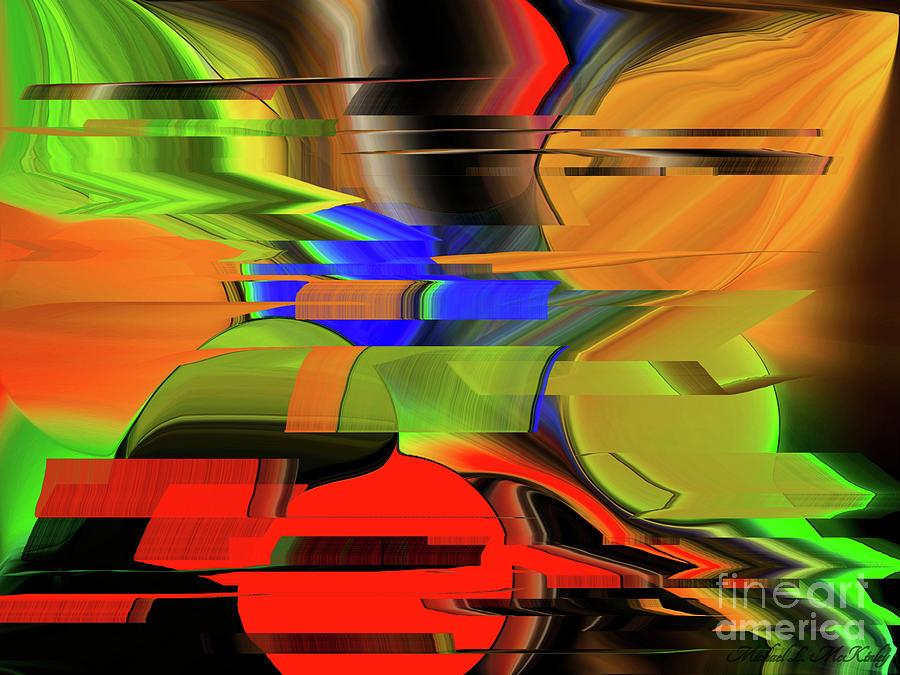 Red Green Yellow Blue Digital Art by Michael L McKinley