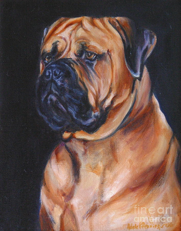Dogs Painting - Red Guy by Adele Pfenninger
