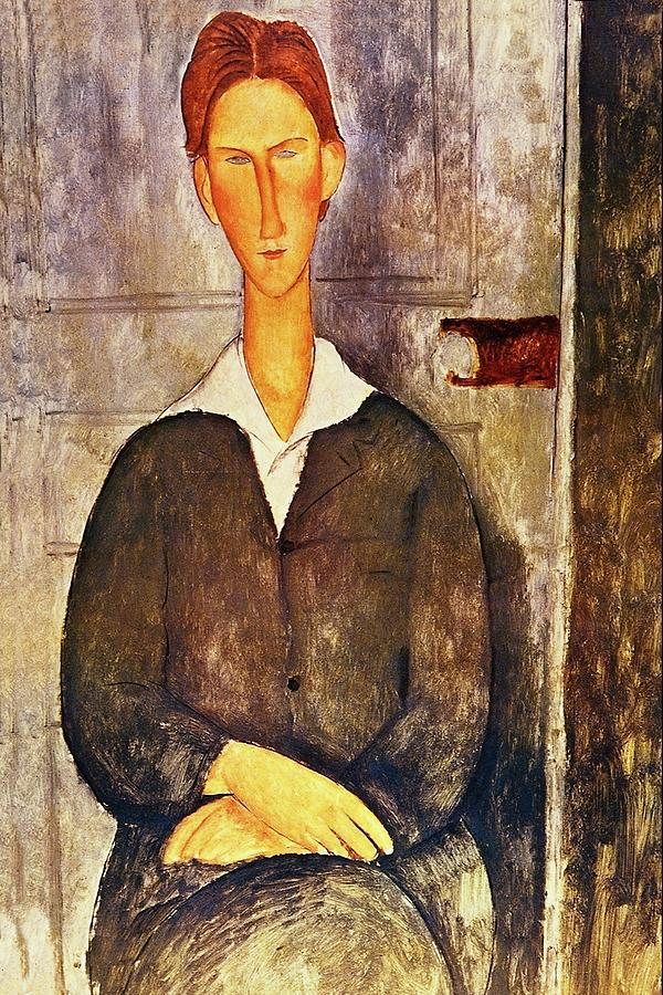 bf151432d7f Amedeo Modigliani Painting - Red Haired Young Man Amedeo Modigliani 1906 by  Movie Poster Prints