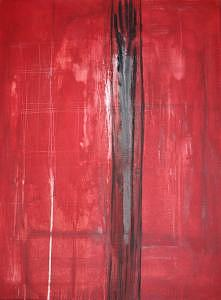 Abstract Painting - Red Hand by Alli Royce Soble