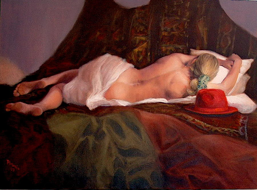 Realism Painting - Red Hat 3 by Donelli  DiMaria