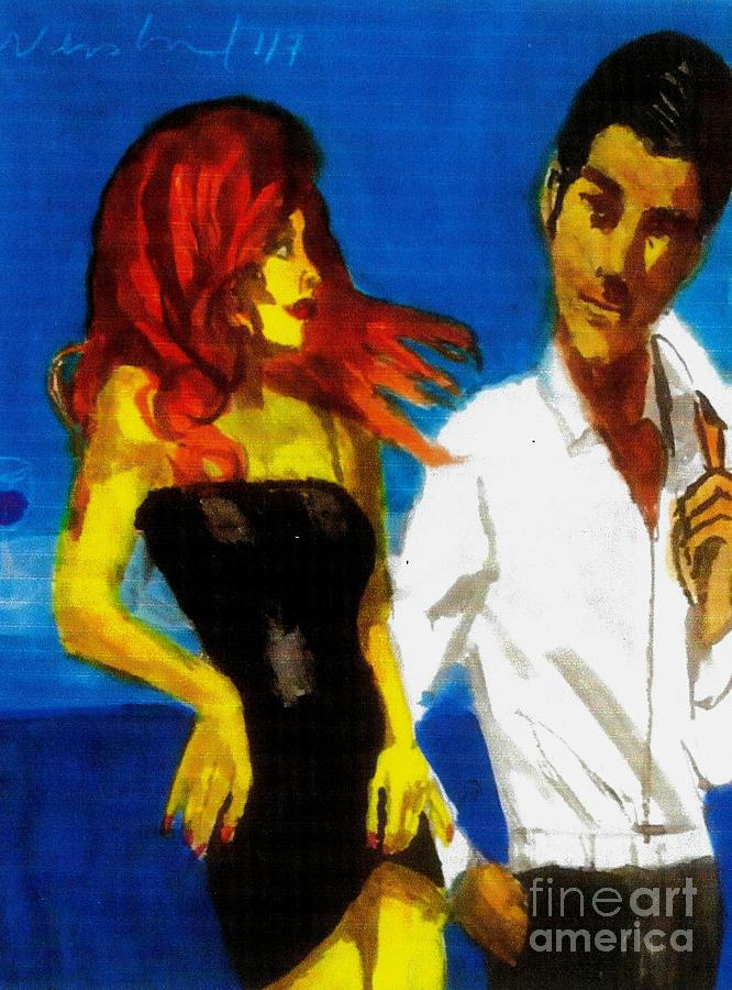 Red Head Looking For Mr Right  Painting by Harry WEISBURD