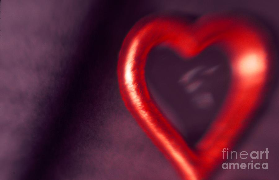 Red Photograph - Red Heart Mirror by Tamarra Tamarra