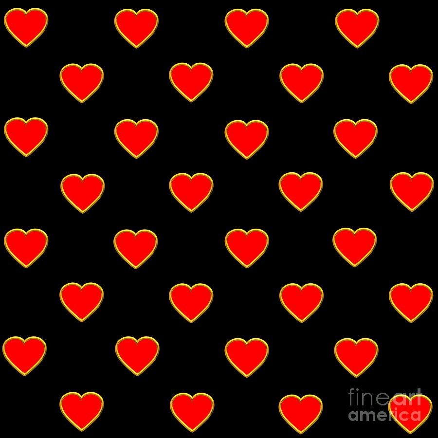 red hearts on a black background saint valentines day love and