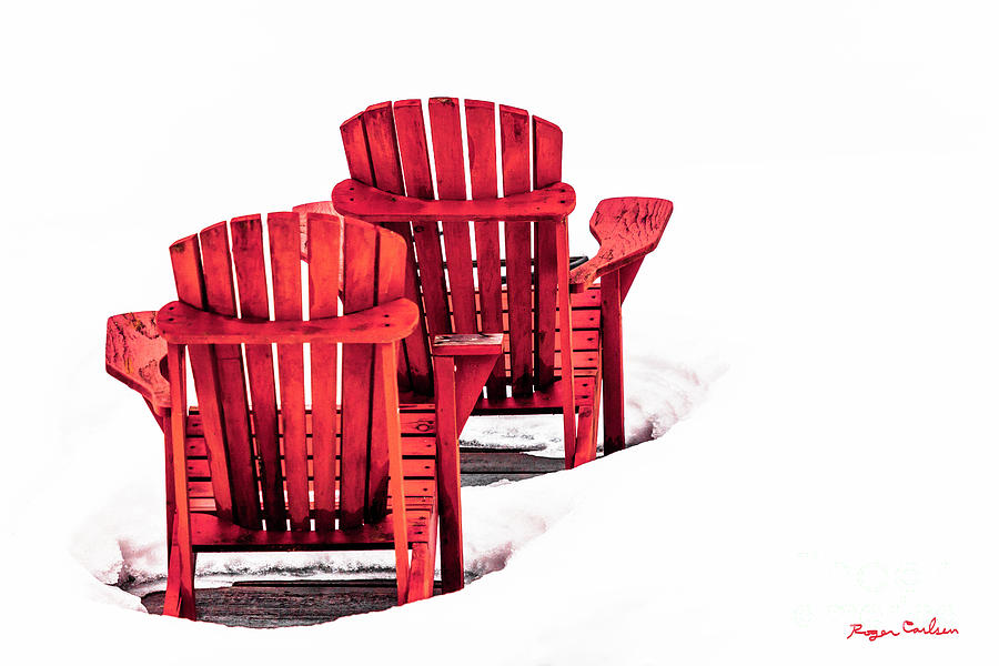 Muskoka Chairs Photograph - Red Heat by Roger Carlsen