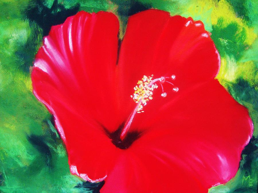 Bold Painting - Red Hibiscus by Melinda Etzold