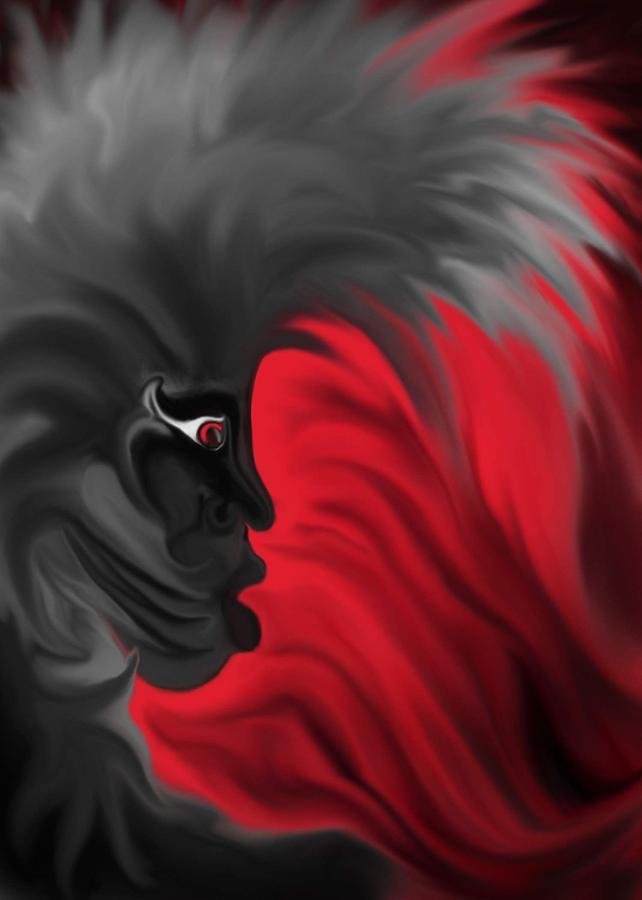 Red Horizon Digital Art by Ronald Terrel