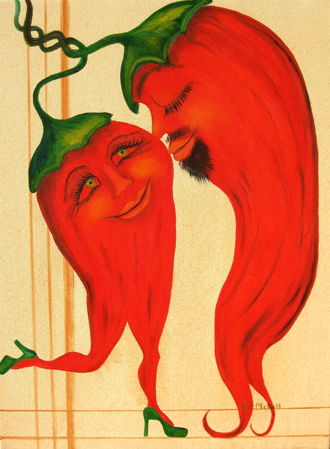 Landscapes Painting - Red Hot Lovers by RJ McNall